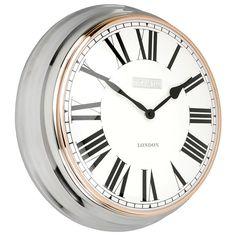 Thomas Kent Campbell Clock - Polished Steel - metal wall clock