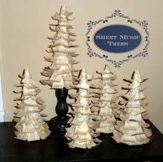 Holy Craft: Sheet music Christmas tree tutorial {from cereal boxes!}