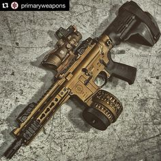 #Repost @primaryweapons Our Diablo pulls off burnt bronze like a boss. Via @simply.guns @metalhead_1 One more shot of the Burnt Bronze Beast. @primaryweapons PWS MK107 pistol in burnt bronze with @xproducts X15S drum in burnt bronze Trijicon ACOG in burnt bronze and @sigsauerinc SB15 brace at @otbfirearms. #igmilitia #primaryweapons #PWS #diablo #xproducts #trijicon #sig #magpul #my #gun #metal #tactical #rifle #gunporn #ar15 #photooftheday #merica #gunsdaily #gunspictures #gunfanatics…