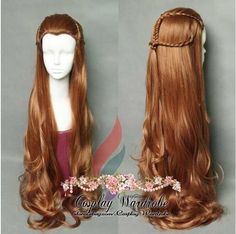 The hobbit Tauriel Cosplay Wig Pre-styled Orange long costume