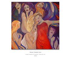 Udvarhelyi Zsuzsa: Hét halálos bűn Painting, Art, Art Background, Painting Art, Kunst, Paintings, Performing Arts, Painted Canvas, Drawings