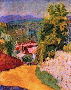 bofransson:    Pierre Bonnard - Little Road in le Cannet 1924