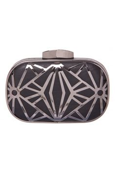 Deco Frame Clutch in BLACK #6112 - colette by colette hayman