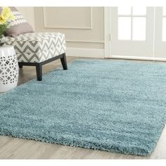 Safavieh Milan Shag Aqua Blue Rug (5'1 x 8') - 15703433 - Overstock.com Shopping - Great Deals on Safavieh 5x8 - 6x9 Rugs