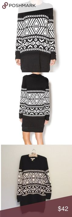 BCBG sweater dress Like new excellent preowned condition . Runs more on the large size.Super cute with boots and a leather jacket.Must have this winter 🎀🎀 BCBGeneration Dresses Long Sleeve