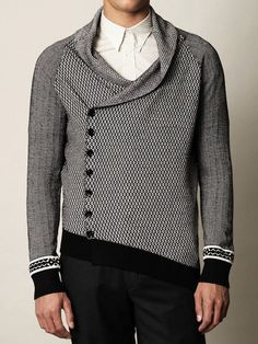 Alexander McQueen Mini Diamond Knitted Cardigan