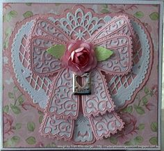 I just Love this tattered lace Chantilly bow here I have combined it with the Marianne Anjas filigraan heart die My inspiration for . Scrapbooking, Scrapbook Cards, Card Making Inspiration, Making Ideas, Shilouette Cameo, Tattered Lace Cards, Die Cut Cards, Heart Cards, Card Tags