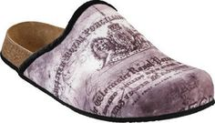 Papillio Clogs ''Helsinki'' Textile In Writing Black With A Narrow Insole Papillio. $56.19