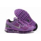 Nike Air Max 2013 Womens Running Shoe Purple/Silver