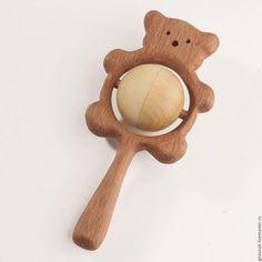 """Wooden beanbag / Развивающие игрушки ручной работы. Заказать Погремушка с горохом """"Медвежонок"""". Лавка Деревянных Игрушек Грызунок. Ярмарка Мастеров. Игрушки для малышей"""