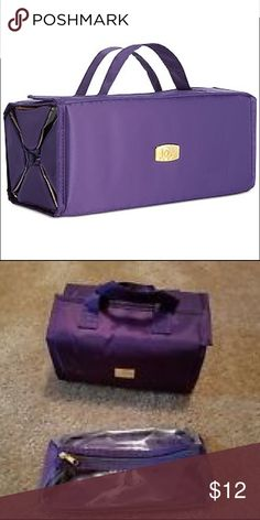 Joy Mangano makeup storage case Size small (also have xlarge in closet) this travel makeup hangs on back of door with removable compartments to take to vanity. Great for travel and easy to clean. Joy Mangano Accessories