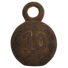 Decorative Fishing Weight Number 10 Sculpture