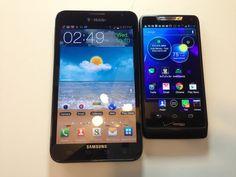 Samsung Galaxy Note vs. Motorola Droid Razr M Review @TMobile #4GLife