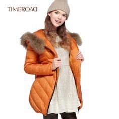 Time RoaD/汤米诺冬季韩版修身羽绒服毛领可脱卸T16411131141-tmall.com天猫