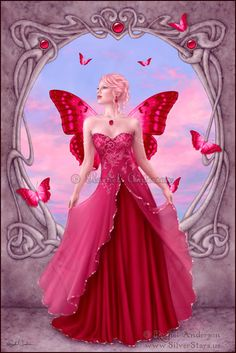 rachel anderson silver stars birthstone ruby july photoshop fairy fay art
