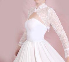 074162158dd Plus size wedding bolero lace wedding jacket   lace cover up shrug long  sleeve lace wrap white  ivory  black custom color