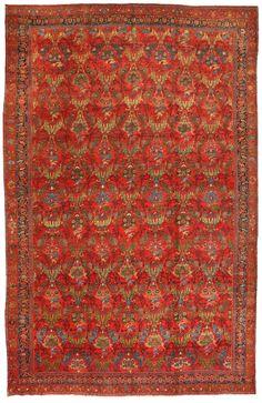 Antique Bidjar Carpet 12.11 X 20.0 - Fred Moheban Gallery