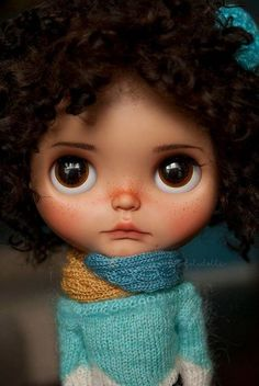 Cutie of the Day  by toletoledolls Check all Blythe Doll Customizers at www.dollycustom.com