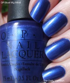 OPI Blue My Mind- TARDIS blue - Thanks for my Tardis Blue nails Nikkinik! :)