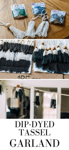 I wanted to make my own garland this year. If you love bohemian decor, this dip-dye tassel garland is something you need to make today! Diy Ideas, Party Ideas, Craft Ideas, Diy Tassel Garland, How To Make Tassels, Christmas Gifts, Christmas Tree, Diy Home Decor On A Budget, Diy Decoration