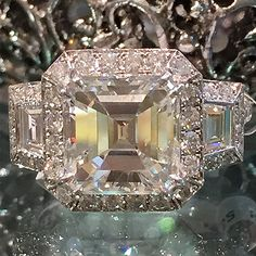 How would you like this ring on your finger?  Beautiful 4.91 Asscher cut diamond engagement ring. Available at Alson Jewelers.  Call 216-464-6767 for more information.  www.alsonjewelers.com