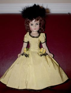 """Very RARE Composition Vintage Madame Alexander """"Hulda"""" with Tagged Dress 