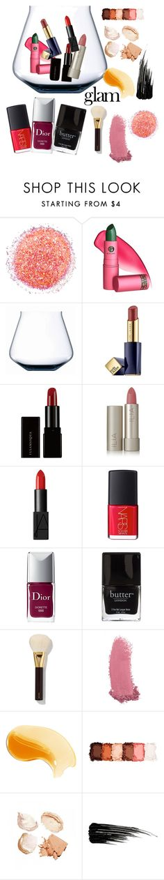 """""""all glam material"""" by owen-996 ❤ liked on Polyvore featuring beauty, Naeem Khan, Lipstick Queen, Estée Lauder, Illamasqua, Ilia, NARS Cosmetics, Christian Dior, Butter London and Tom Ford"""