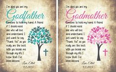 Baptism Thank You Gift, God Parent Thank You, Wine Label for Godmother, Wine Label for Godfather, Custom Wine Label, Set of 2 Wine Labels