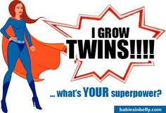 Moms of Multiples – Stand Proud!! #twins #pregnancy  Expecting twins? Get ready with our prenatal classes at babiesinbelly.com for $97