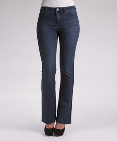 Take a look at this Indigo Whiskered Rita Bootcut Jeans by Liverpool Jeans Company on #zulily today!