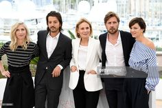 Jury members Jessica Hausner, Diego Luna, Marthe Keller, Ruben Oestlund and Celine Sallette attend the Jury Un Certain Regard Photocall during the 69th annual Cannes Film Festival at the Palais des Festivals on May 13, 2016 in Cannes, France.