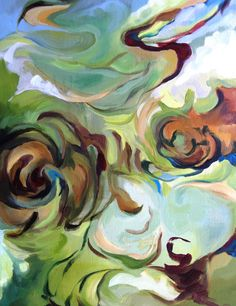 """Molly Courcelle, 2010, """"Praise"""" Psalm 145:10, oil on canvas"""