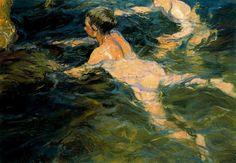Joaquin Sorolla y Bastida (February 1863 - August was a Spanish painter, born in Valencia Google Art Project, Spanish Painters, Spanish Artists, Comics Illustration, Illustrations, Valencia, Oil Canvas, Gay Art, Fine Art