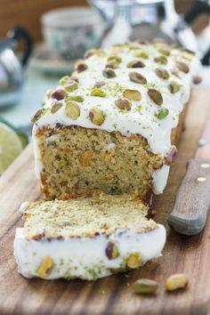 pistachio, lime & zucchini cake #Vegetariancooking