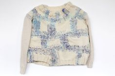 """Contemporary Practitioner Glossary: Celia Pym laurenstewarthud: """" Reference: Pym, C. Stop Looking Like a Sweater. , retrieved from. Visible Mending, Make Do And Mend, Recycled T Shirts, Darning, Textile Design, Crochet, Knitwear, What To Wear, Men Sweater"""