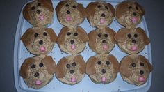 Golden Retriever Cupcakes