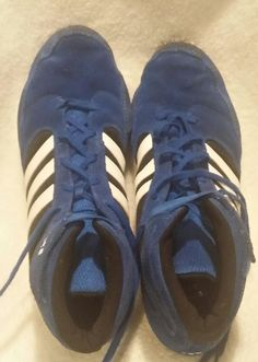 The Adidas® Pretereo II Wrestling Shoe Blue Suede size 12 #adidas