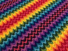 Crochet Ripple, Crochet Afgans, Rainbow Crochet, Rainbow Afghan, Crochet Shawl, Crochet Stitches, Crochet Blanket Patterns, Baby Blanket Crochet, Crochet Baby