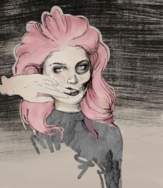 I've always wanted pink hair Pink Hair, Eve, Female, Illustration, Instagram, Rosa Hair, Illustrations