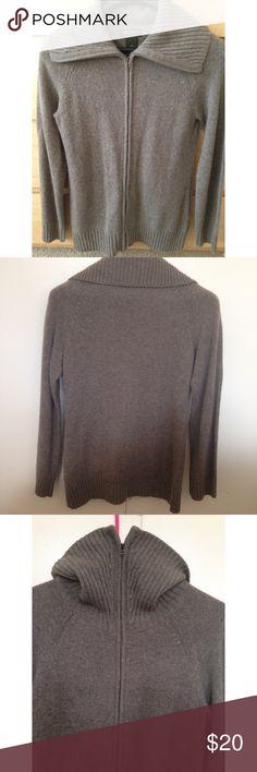 NWOT Eddie Bauer Sweater NWOT Eddie Bauer zip up sweater which is like a grayish brownish color. Eddie Bauer Jackets & Coats