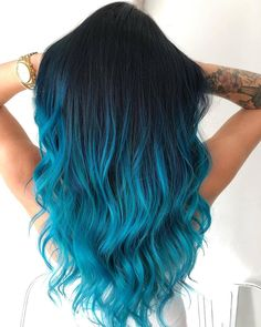 Oceanic Nope or Dope fashion nubile By kb swaghair Cute Hair Colors, Pretty Hair Color, Beautiful Hair Color, Hair Dye Colors, Blue Tips Hair, Blue Ombre Hair, Hair Color For Black Hair, Green Hair, Black Blue Ombre