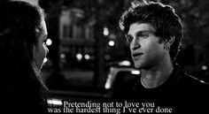 Toby-Fingir não amar você foi a coisa mais difícil que eu já fiz. Spoby.