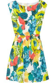 Alice + Olivia|Alissa floral-print stretch silk-georgette dress|NET-A-PORTER.COM
