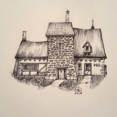 #inktober day 17  #ink #drawing #architecture #art #illustration