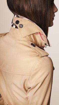 Miel Trench coat Sandringham - Trench coat Heritage de longitud media - Imagen 3