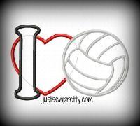 High School Sports Volleyball Sports Applique