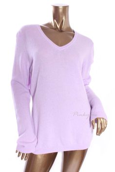 CHARTER CLUB Womens New $139 V-Neck Long Sleeve 100% Cashmere Knit Sweater XL #CharterClub #VNeck