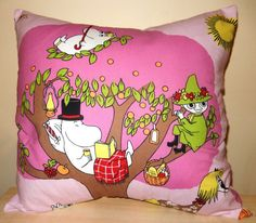 Moomin Fabric Pink Cushion Selection  handmade by AlienCoutureUK, £14.99