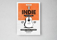 Indie Music Festival Flyer by lilyshop on Indie Festival, Festival Flyer, Indie Music, Flyer Design, Old Things, Presents, Creative, Collection, Graphic Art