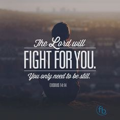 """""""And Moses said to the people 'Do not be afraid. Stand still and see the salvation of the Lord which He will accomplish for you today. For the Egyptians whom you see today you shall see again no more forever. The Lord will fight for you and you shall hold your peace.' Exodus 14:13-14 #votd #faith . . . #BixbyOklahoma #BixbyOK #TulsaOK #FBCBixby #Bible #votd #Peace #Hope #Grace #Love #Forgiveness #Church #Worship #Family #VerseOfTheDay #SouthTulsa #SouthTulsaOK #Prayer #BibleStudy…"""